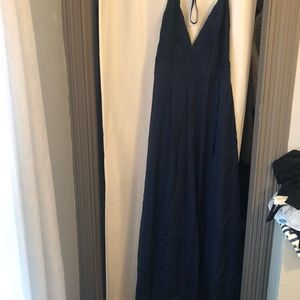 Inspired Maxi Tribe Dress in Navy